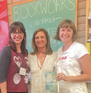 Bookworks staffers with Celeste Yacoboni