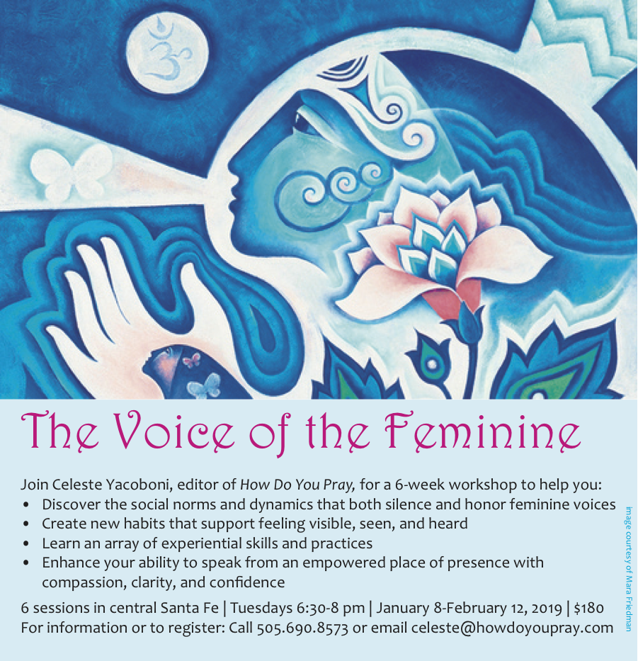 Voice of the Feminine workshop in early 2019 with Celeste Yacoboni